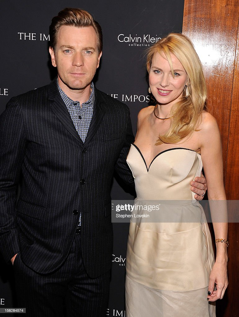 Actors Ewan McGregor and Naomi Watts attend 'The Impossible' New York special screening at Museum of Art and Design on December 12, 2012 in New York City.