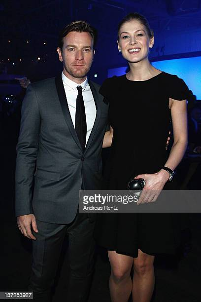 Actors Ewan McGregor and Rosamund Pike attends the IWC Schaffhausen Top Gun Gala Event during the 22nd SIHH High Jewellery Fair at the Palexpo...