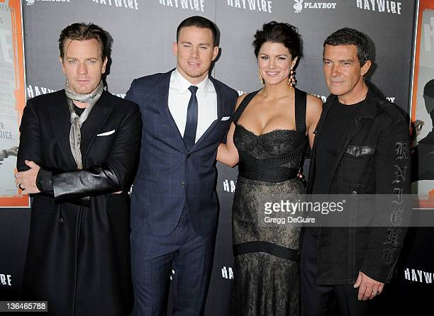 "Actors Ewan McGregor, Channing Tatum, Gina Carano and Antonio Banderas arrive at the ""Haywire"" Los Angeles Premiere at Directors Guild Of America on..."
