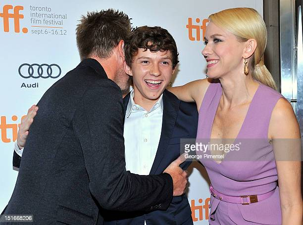 """Actors Ewan McGregor, Tom Holland and Naomi Watts arrive at the """"The Impossible"""" Premiere at the 2012 Toronto International Film Festival at the..."""