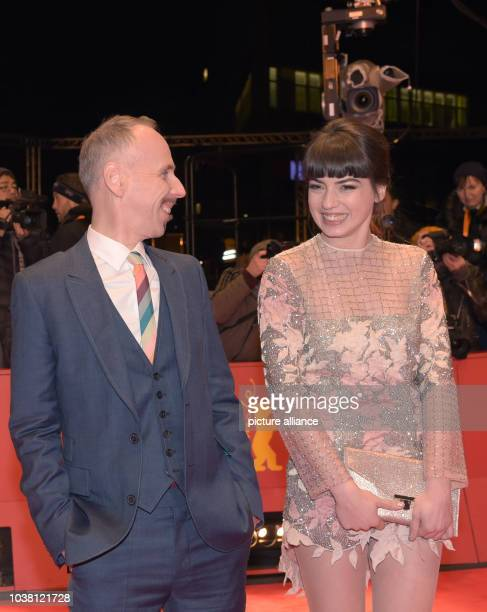 Actors Ewen Bremner and Anjela Nedyalkova arrive for the premiere of the movie 'T2 Trainspotting' at the 67th International Berlin Film Festival in...