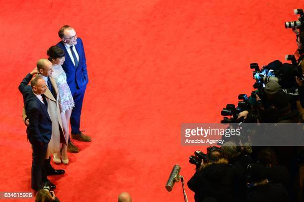 Actors Ewen Bremner Jonny Lee Miller Anjela Nedyalkova and Film director Danny Boyle attend the red carpet of 'T2 Trainspotting' during the 67th...