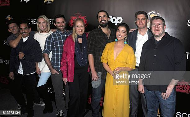 Actors Ezra Buzzington Ray Santiago and Molly McCook Dave Lawson Sally Kirkland Richard Bates Jr Angela Trimbur Devin Herbers and Matt Smith arrive...