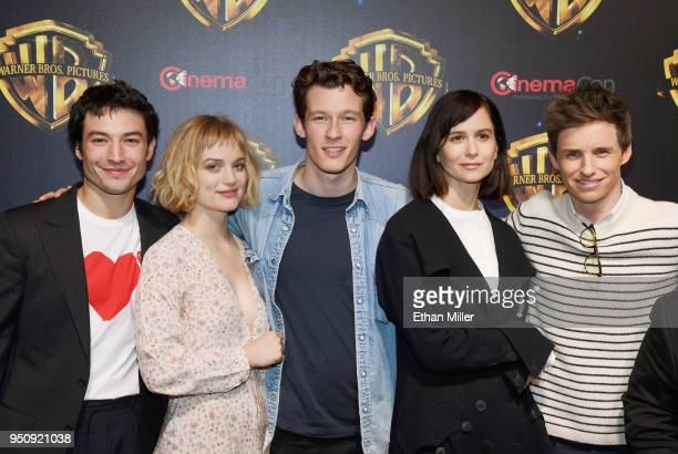 Actors Ezra Miller Alison Sudol Callum Turner Katherine Waterston and Eddie Redmayne attend CinemaCon 2018 Warner Bros Pictures Invites You to The...