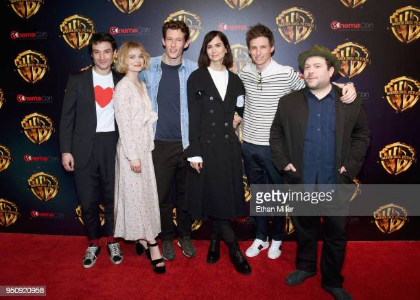 Actors Ezra Miller Alison Sudol Callum Turner Katherine Waterston Eddie Redmayne and Dan Fogler attend CinemaCon 2018 Warner Bros Pictures Invites...