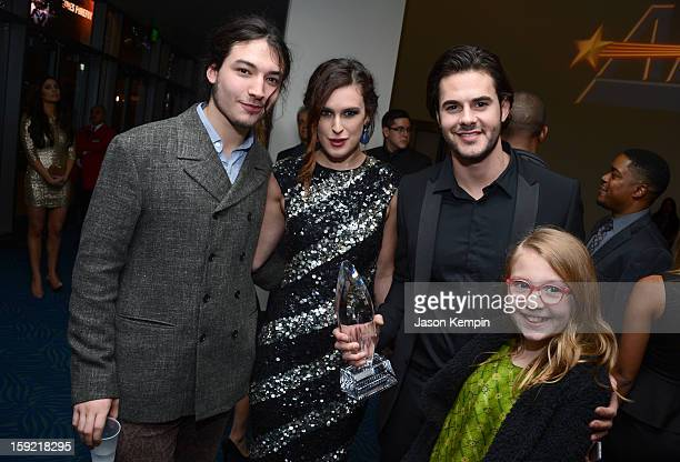 Actors Ezra Miller Rumer Willis Jayson Blair and Bebe Wood attend the 39th Annual People's Choice Awards at Nokia Theatre LA Live on January 9 2013...