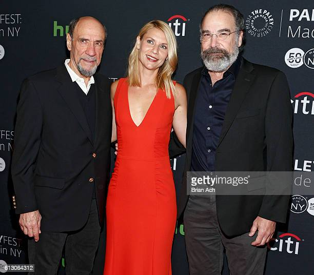 Actors F Murray Abraham Clare Danes and Mandy Pantinkin attend the PaleyFest Made in New York Opening Night HOMELAND event on October 6 2016 in New...