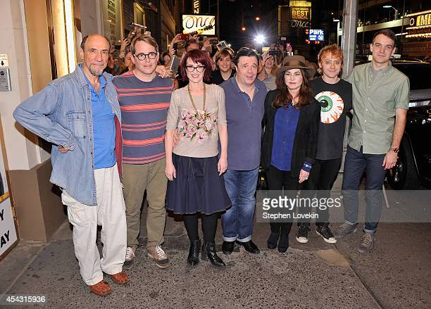 """Actors F. Murray Abraham, Matthew Broderick, Megan Mullally, Nathan Lane, Stockard Channing, Rupert Grint, and Micah Stock attend the """"It's Only A..."""