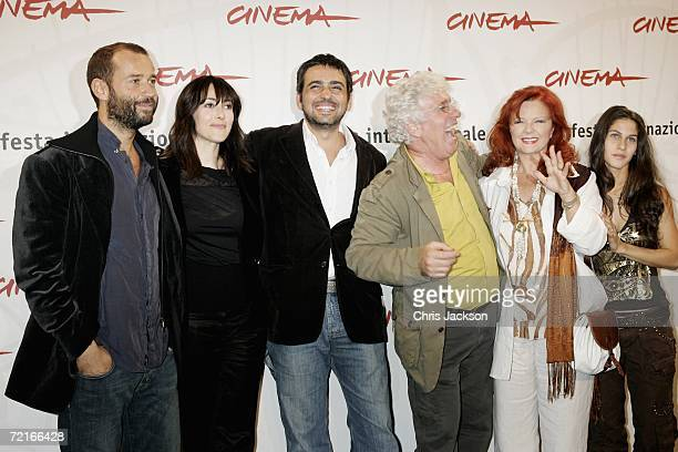 Actors Fabio Volo Anita Caprioli director Eugenio Cappuccio actors Ninetto Davoli Agostina Belli and Tresy Taddei attend a photocall to promote the...