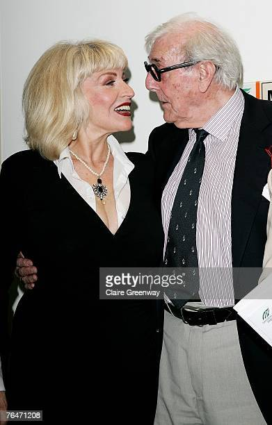 Actors Faith Brown and Eric Sykes attend the 49th Variety Club Race Day at Sandown race course on September 1 2007 in London England The charity...