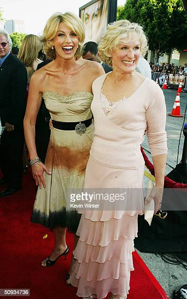 """Actors Faith Hill and Glenn Close arrive at the world premiere of Paramount's """"The Stepford Wives"""" at the Bruin Theatre on June 6, 2004 in Los..."""