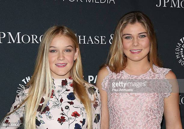 Actors Faith Schroder and Cambrie Schroder attend the Paley Center For Media's Tribute To AfricanAmerican Achievements In Television at the Beverly...