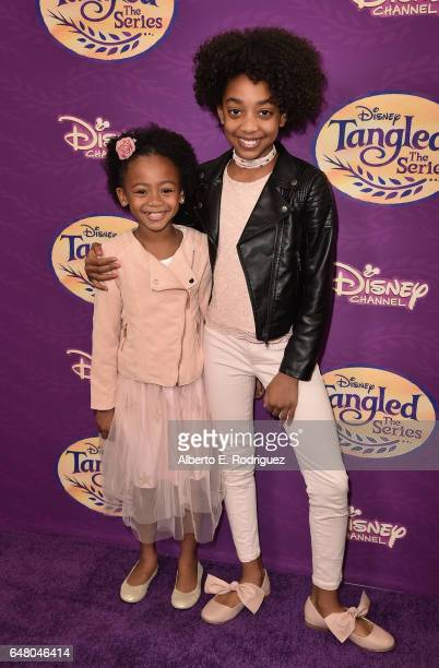 Actors Faithe Herman and Eris Baker attend a screening of Disney Channel's 'Tangled Before Ever After' at The Paley Center for Media on March 4 2017...