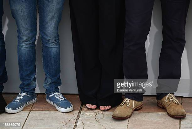 Actors Fantin Ravat Marine Vacth and director Francois Ozon attend the photocall for 'Jeune Jolie' during the 66th Annual Cannes Film Festival at...