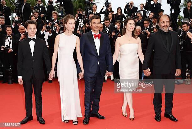 Actors Fantin Ravats Marine Vactha director Francois Ozon actors Geraldine Pailha and Frederic Pierrot attend the Premiere of 'Jeune Jolie' at The...