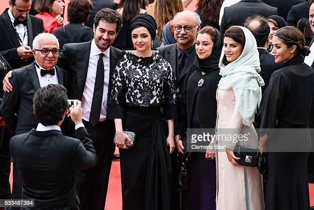 Actors Farid Sajjadihosseini Shahab Hosseini Taraneh Alidoosti Babak Karimi script Parisa Gorgen and guests attend the closing ceremony of the 69th...