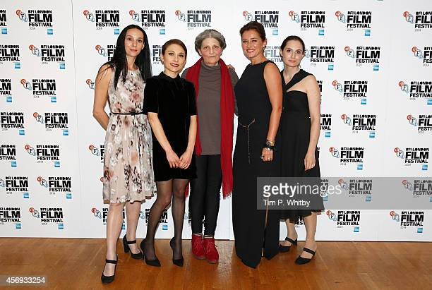 Actors Fatma Mohamed Chiara D'Anna Monica Swinn Sidse Babett Knudsen and Eugenia Caruso attend the official screening for 'Duke of Burgundy' during...