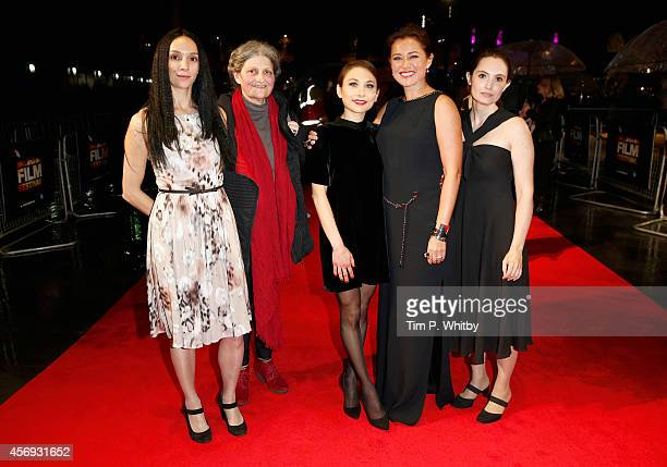 Actors Fatma Mohamed Monica Swinn Chiara D'Anna Sidse Babett Knudsen and Eugenia Caruso attend the official screening for 'Duke of Burgundy' during...