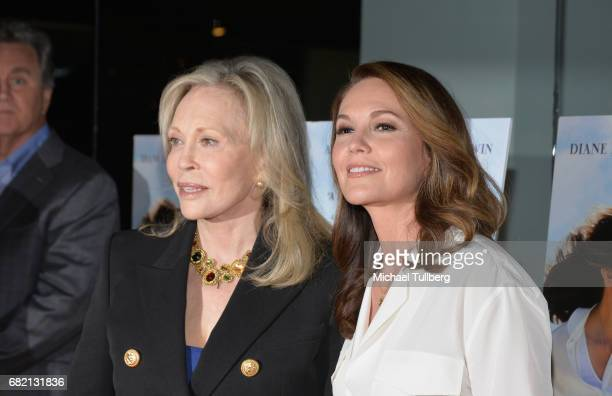 Actors Faye Dunaway and Diane Lane attend the Los Angeles premiere of Sony Pictures Classics' 'Paris Can Wait' at Pacific Design Center on May 11...