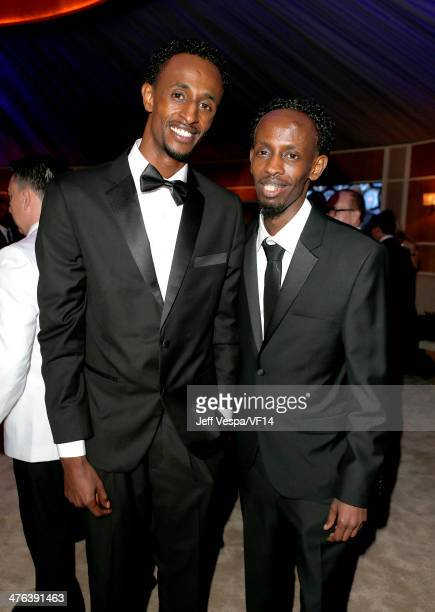 Actors Faysal Ahmed and Barkhad Abdi attend the 2014 Vanity Fair Oscar Party Hosted By Graydon Carter on March 2 2014 in West Hollywood California