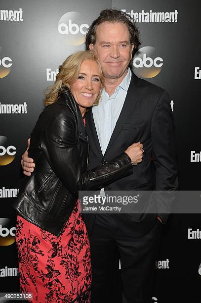 Actors Felicity Huffman and Timothy Hutton attend the Entertainment Weekly ABC Upfronts Party at Toro on May 13 2014 in New York City