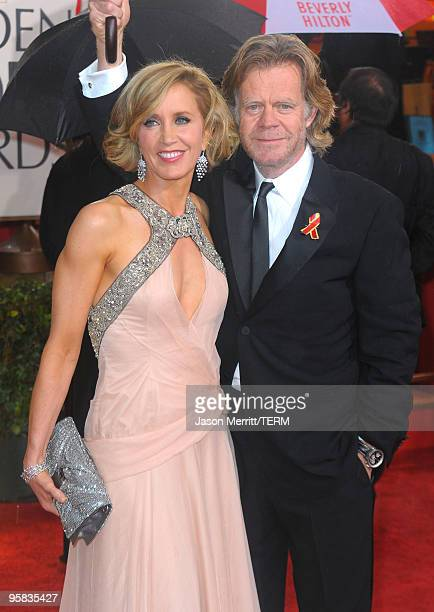 Actors Felicity Huffman and William H. Macy arrive at the 67th Annual Golden Globe Awards held at The Beverly Hilton Hotel on January 17, 2010 in...