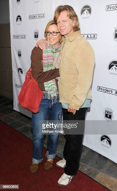 Actors Felicity Huffman and William H Macy arrive at the Project ALS LA Benefit hosted by Ben Stiller Friends at Lucky Strike Bowling Alley on April...