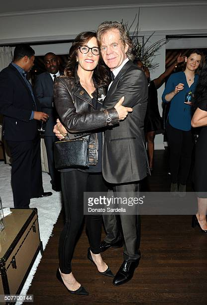 Actors Felicity Huffman and William H Macy attend a A Toast To Regina King Hosted By Revolt Entertainment SnapStyle at Chateau Marmont on January 30...