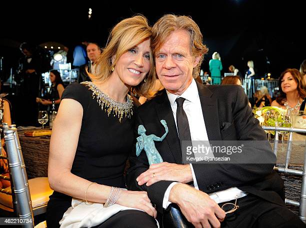 Actors Felicity Huffman and William H Macy attend the 21st Annual Screen Actors Guild Awards at The Shrine Auditorium on January 25 2015 in Los...