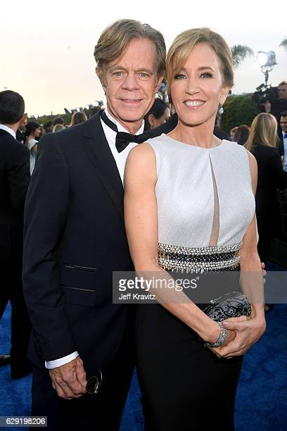 Actors Felicity Huffman and William H Macy attend The 22nd Annual Critics' Choice Awards at Barker Hangar on December 11 2016 in Santa Monica...