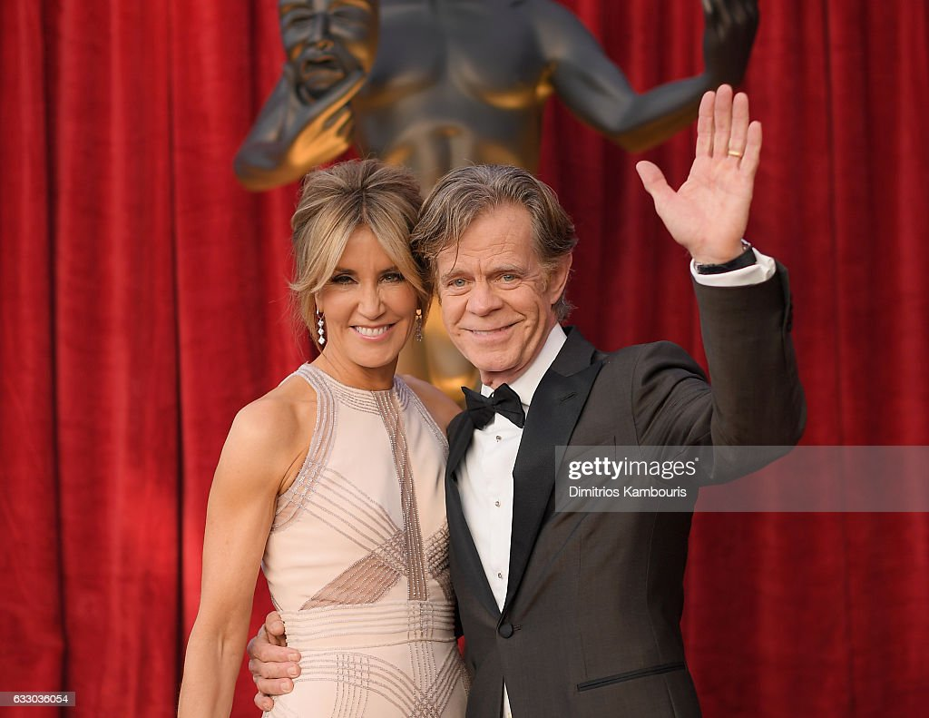 Actors Felicity Huffman (L) and William H. Macy attend The 23rd Annual Screen Actors Guild Awards at The Shrine Auditorium on January 29, 2017 in Los Angeles, California. 26592_009
