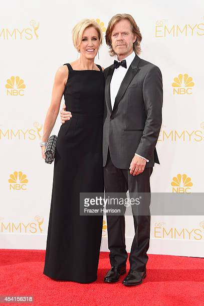 Actors Felicity Huffman and William H Macy attend the 66th Annual Primetime Emmy Awards held at Nokia Theatre LA Live on August 25 2014 in Los...