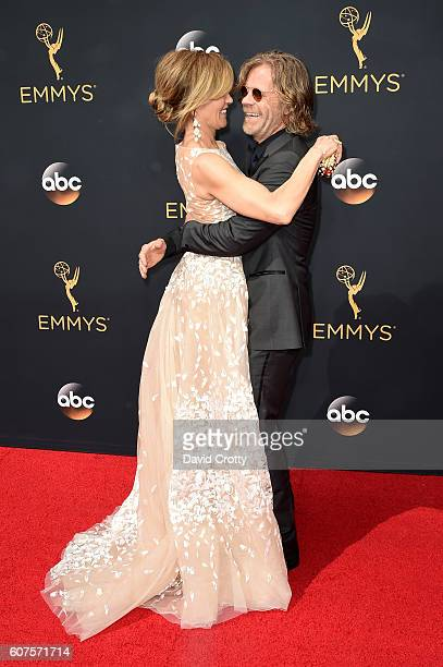 Actors Felicity Huffman and William H Macy attend the 68th Annual Primetime Emmy Awards at Microsoft Theater on September 18 2016 in Los Angeles...