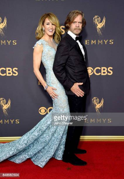 Actors Felicity Huffman and William H Macy attend the 69th Annual Primetime Emmy Awards at Microsoft Theater on September 17 2017 in Los Angeles...