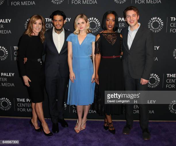 Actors Felicity Huffman Richard Cabral Ana MulvoyTen Mickaelle X Bizet and Connor Jessup attend a premiere screening and conversation for ABC's...