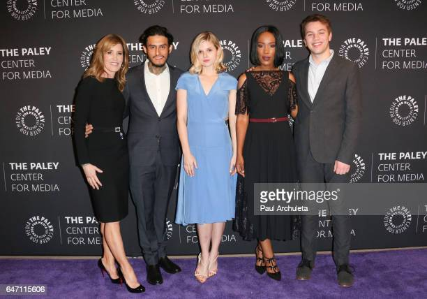 Actors Felicity Huffman Richard Cabral Ana MulvoyTen Mickaelle X Bizet and Connor Jessup attend the screening for ABC's American Crime season 3 at...