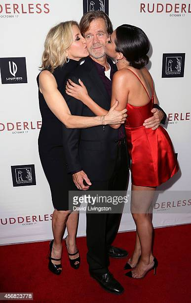 Actors Felicity Huffman William H Macy and Selena Gomez attend a screening of Samuel Goldwyn Films' Rudderless at the Vista Theatre on October 7 2014...