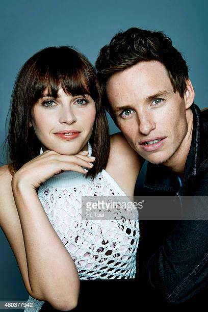 Actors Felicity Jones and Eddie Redmayne are photographed at the Toronto Film Festival for Variety on September 6 2014 in Toronto Ontario