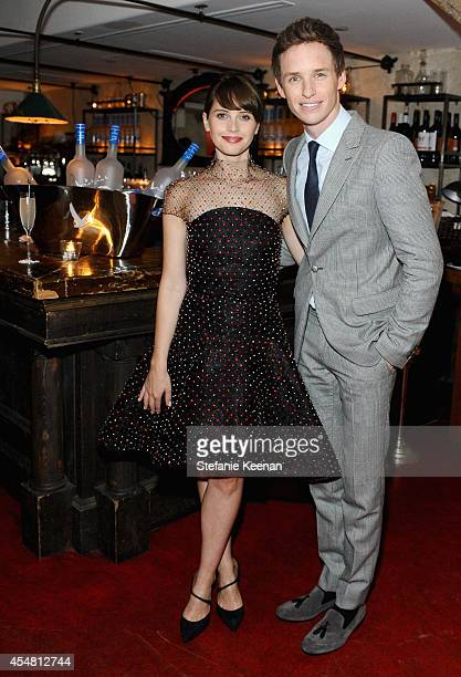 Actors Felicity Jones and Eddie Redmayne at 'The Theory of Everything' dinner hosted by GREY GOOSE vodka and Soho House Toronto during TIFF on...
