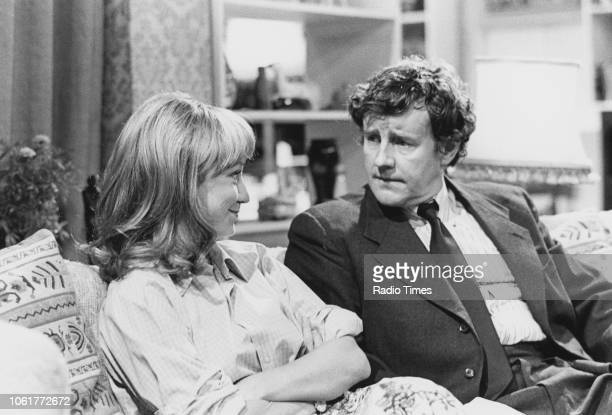 Actors Felicity Kendal and Richard Briers in a scene from episode 'The Last Posh Frock' of the television sitcom 'The Good Life', July 24th 1976.