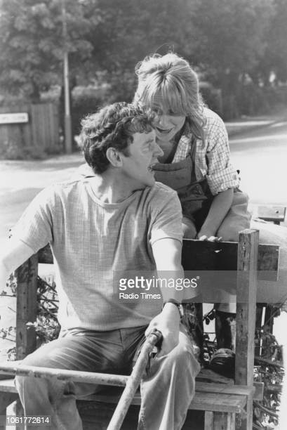 Actors Felicity Kendal and Richard Briers in a scene from the television sitcom 'The Good Life' May 30th 1978