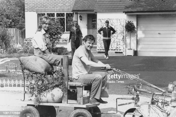 Actors Felicity Kendal and Richard Briers with Paul Eddington and Penelope Keith in a scene from the television sitcom 'The Good Life' May 30th 1978