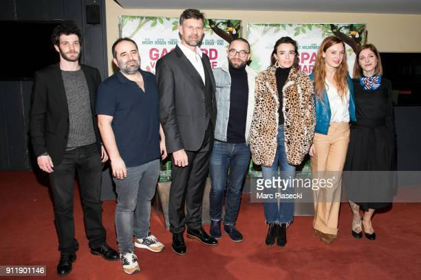 Actors Felix Moati director Antony Cordier Actors Johan Heldenbergh Guillaume Gouix Elodie Bouchez Laetitia Dosch and Noemie Alazard attend the...