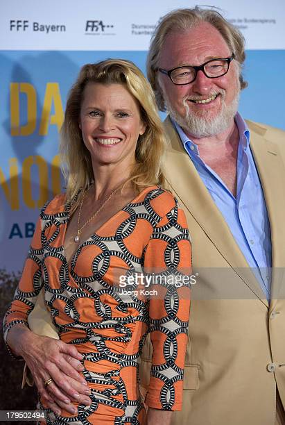 Actors Felix von Manteuffel and Leslie Malton pose at the 'Da geht noch was' Germany premiere at Mathaeser on September 4 2013 in Munich Germany