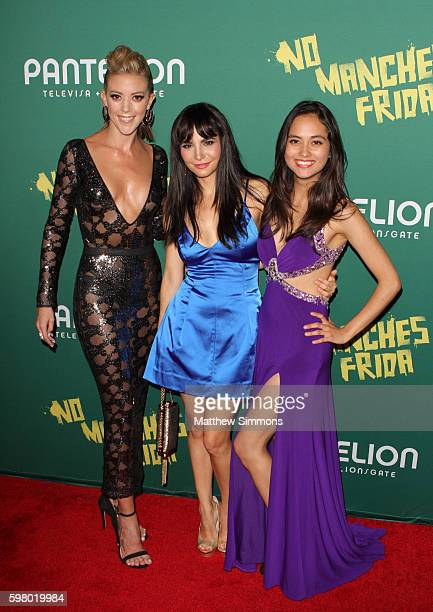 Actors Fernanda Castillo Martha Higareda and Karen Furlong attend the premiere of Pantelion Films' No Manches Frida at Regal LA Live Stadium 14 on...