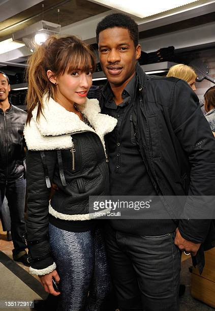 Actors Fernanda Romero and Nate Parker attend the GStar Rodeo Drive Store Opening on December 6 2011 in Beverly Hills California