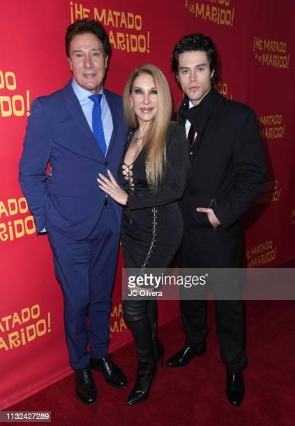 Actors Fernando Allende Mari Allende and Adam Allende attend 'HE MATADO A MI MARIDO' Los Angeles Premiere at Harmony Gold Theatre on February 26 2019...