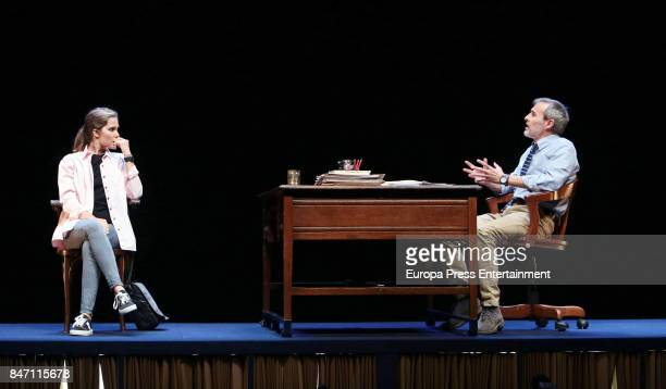 Actors Fernando Guillen Cuervo and Natalia Sanchez attend the presentation of Oleanna in the Arts Theater on September 5 2017 in Madrid Spain