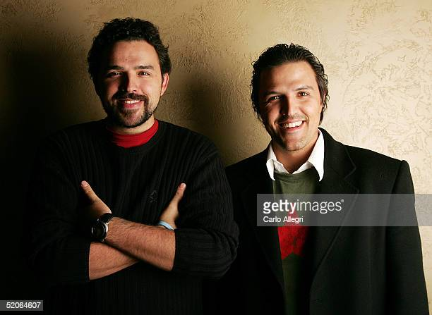 Actors Fernando Rovzar and Billy Rovzar of the film Mantando Cabos poses for portraits during the 2005 Sundance Film Festival January 25 2005 in Park...