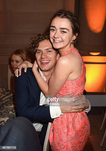 Actors Finn Jones and Maisie Williams attend the after party for HBO's 'Game of Thrones' Season 5 at San Francisco City Hall on March 23 2015 in San...